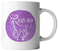 Idea Regalo - ghostee tazza di caffè - Oroscopo Segno Stellare Ariete 21.03. - 20.04.