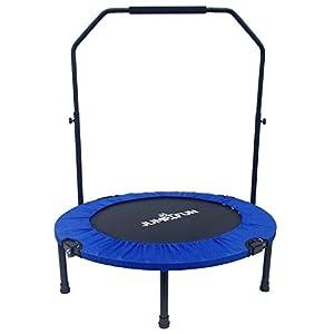 Jump4fun Mini-Trampolin, Fitness, mit 2 Stangen, faltbar