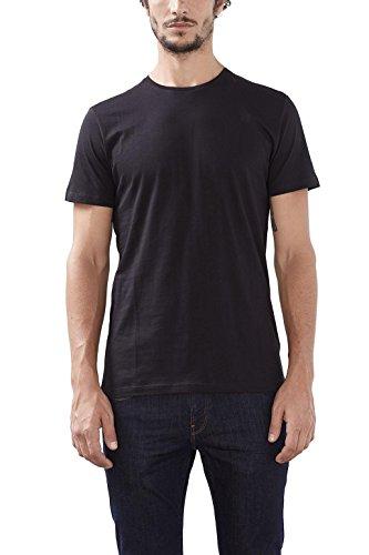 ESPRIT Herren T-Shirt 2er Pack 126ee2n002-Basic Schwarz (Black 001)