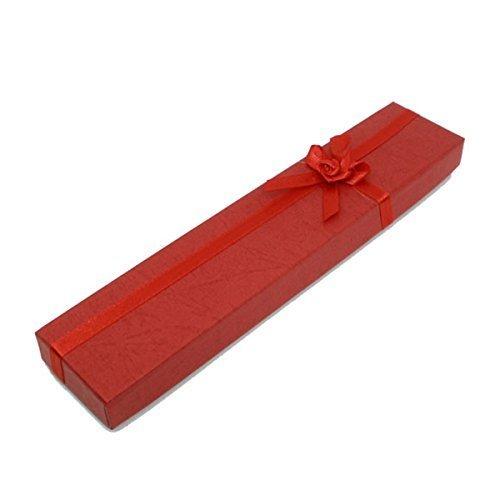WayGo 12 x Red Jewelry Necklace Bracelet Watch Gift Case Box