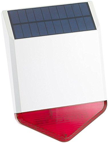 VisorTech Zubehör zu Alarmsirenen: Autarke Solar-Funk-Alarmanlage mit Sirene und Licht-Warnsignal, 110 dB (Alarmanlage für Gartenlaube)