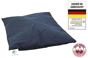 Cuscino con noccioli di ciliegia, 25x 30cm, cuscino termico grande, cuscino naturale XXL, made in Germany e certificato Öko-Tex 100