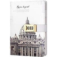 Diario de diario con tapa de piel sintética y cierre de bloqueo, tamaño A5, diario de viaje para niñas y niños (iglesia de San Petersburgo)