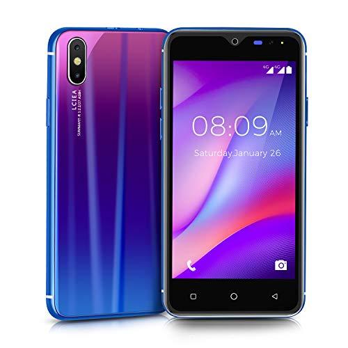 Móviles y Smartphones Libres, Unlocked 3G Teléfono Móvil Libre y sin Bloqueo de SIM, 5.0 Pulgadas con Pantalla HD Procesador (5.0MP HD Cámara,Dual SIM,4GB ROM GPS,WiFi,Bluetooth) (I8-Blue)