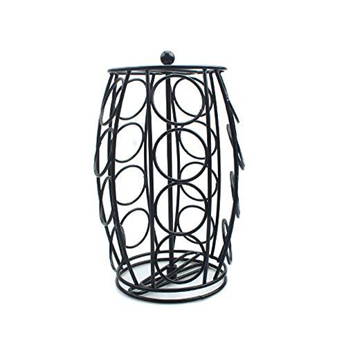 BONMW Kaffeepadkapsel Drehbarer Halter Anti Vibration rutschfeste Oberfläche Ständer Storage Tower Rack -