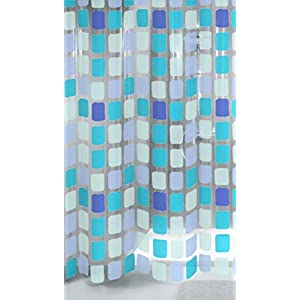 "Kleine Wolke ""Sonny Shower Curtain, Blue, 180 x 200 cm"