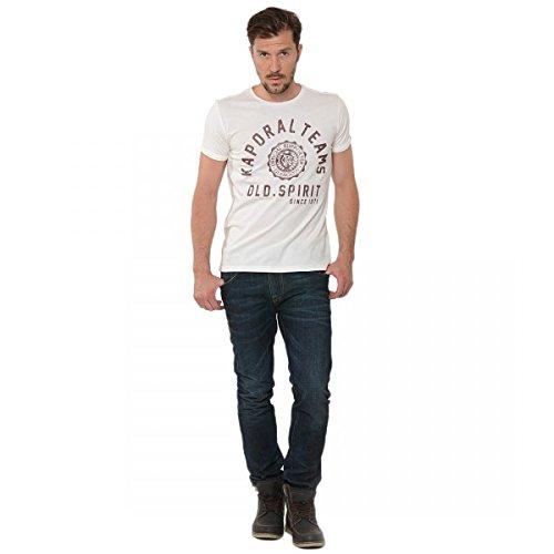 Kaporal-Maglietta girocollo a maniche corte, da uomo Bianco S