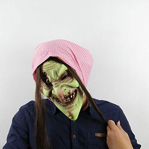 Edelehu Märchen Alte Hexe Halloween-Maske Beängstigend Gruselig Horror Cosplay Kostüm Bandana Latex Beängstigenden Kopf Zombie-Maske