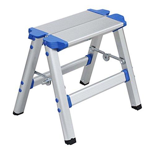 ERRU- Escaleras plegables Taburete de escalera de aleación de aluminio grueso con...
