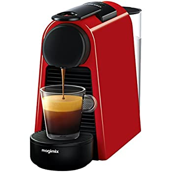 nespresso essenza mini coffee machine ruby red finish by magimix kitchen home. Black Bedroom Furniture Sets. Home Design Ideas