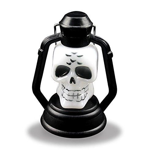 Schädel Halloween Prop (Eizur Halloween Sneaky Schädel Lampe Horror Kerosene Lampe Halloween Props Dekor Blitz LED Nacht Licht Gruselige Licht)