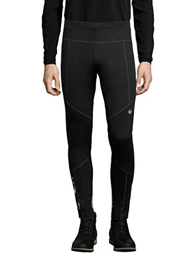 Ultrasport Advanced Pantaloni da sci di fondo da uomo Avers, pantaloni da neve idrorepellenti e antivento, pantaloni funzionali, per sport invernali e attività outdoor, Nero/Blu, M