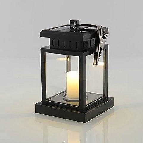 XJLED - Lanterna solare ad ombrello a LED da esterno, da appendere, candela a LED per esterni, decorazione da giardino, ABS, Bianco, TYPE-1 12.00 volts