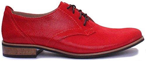 Justin Reece 3010, Chaussures de ville à lacets pour femme red