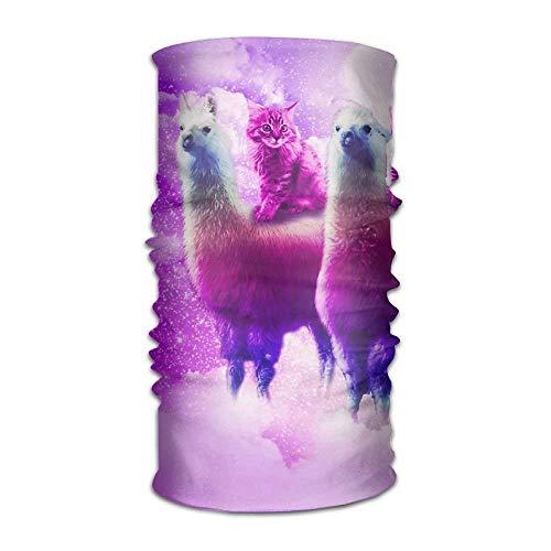 Rainbow Cat Llama Headwear For Men And Women-Yoga Sports Travel Workout Wide Headbands,Neck Gaiter,Bandana,Helmet Liner,Balaclava,Hair Turban,Scarf