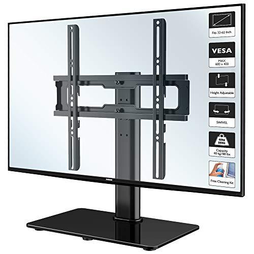 1home LCD/LED Fernsehtisch TV Ständer Standfuss Fernsehstand Schwenkbar Höhenverstellbar für 32-60 Zoll, Max.VESA 600x400