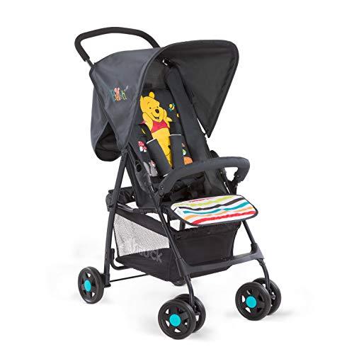 Hauck Sport - silla de paseo ultra ligera de 5,9kg, sistema de arnés de 5 puntos, respaldo reclinable, plegable, para bebes de 6 meses a 15kg, pooh (rojo)