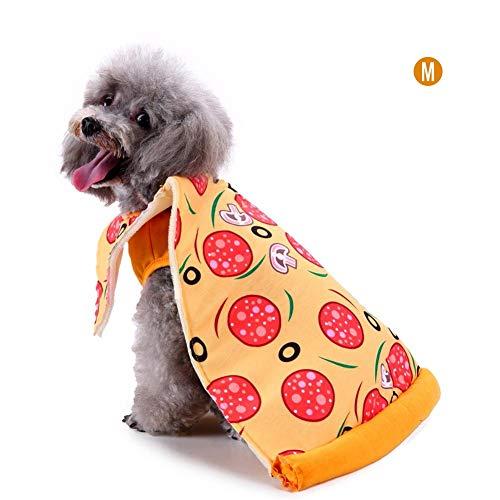Haustierkatzehund Weihnachten kreative Halloween-Mantelkleidung, lustige Hundekleidungsklage der köstlichen Pizza gesetzten, Haustierfeiertagsballgeburtstags-Partyphotographie-Stützen-Mantelmantel