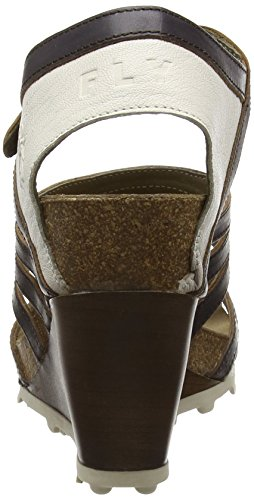 FLY London Anke 617, Sandales Femme Multicolore (GROUND/OFFWHITE 000)
