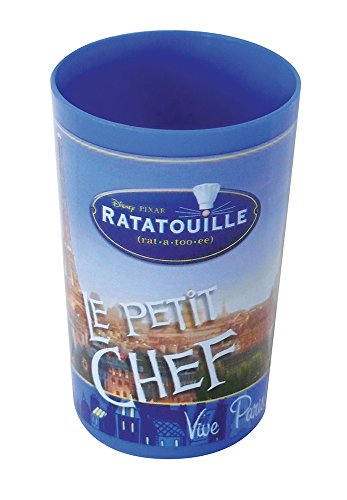 FUN HOUSE 005208 Ratatouille Verre pour Enfant, PP, Bleu, 6,5 x 6,5 x 10 cm