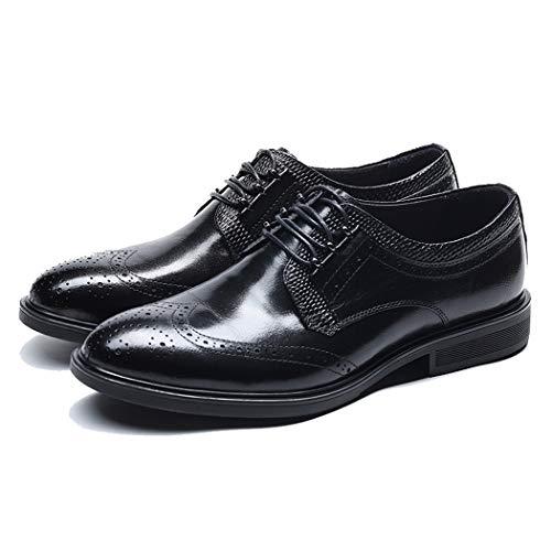 RSHENG Bullock Herrenschuhe Derby Schuhe British Wind Carved Herren Retro Schuhe Leder Gezeiten Schuhe Gentleman Schuhe -