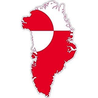 Selbstklebend Wandtattoo Sticker, Auto Vinyl Flagge Karte Grönland
