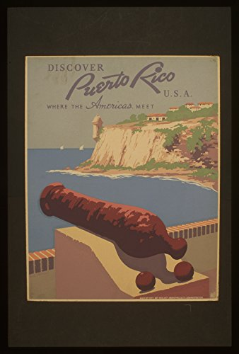 discover-puerto-rico-large-matte-brown-frame