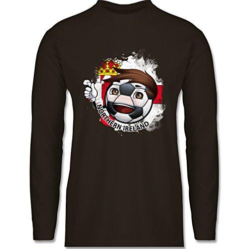 EM 2016 - Frankreich - Fußballjunge Nordirland - Longsleeve / langärmeliges  T-Shirt für Herren