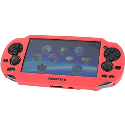 Assecure Pro Red Silicone Gel Skin Protector Cover Protective Bumper Grip Cas.