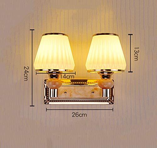 MJK Wandleuchten, LED-Wandleuchten zur Wandmontage, Kreativglas-Wandleuchte, Wandleuchte mit doppeltem Kopfteil, Flurwandleuchte,B (Kopfteil Doppelte)