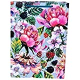 Arrow Paper Products Cherry Flower Bags for Gifting, Weddings, Birthday, Holiday Presents (Pack of 10, 28x20x7.5 cm)