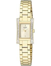 Citizen Damen-Armbanduhr Analog Quarz Edelstahl beschichtet EZ6312-52P