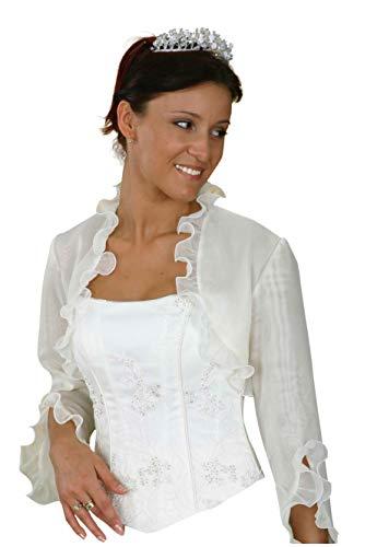 Brautjacke Jacke Bolero Hochzeitsjacke Bolerojacke Brautbolero Organza - Organza Jacke