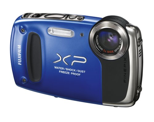 Fujifilm FinePix XP50 Digitalkamera (14 Megapixel, 5-fach opt. Zoom, 6,9 cm (2,7 Zoll) Display, bildstabilisiert, wasserdicht bis 5m) blau (Xp50 Digital-kamera Finepix)