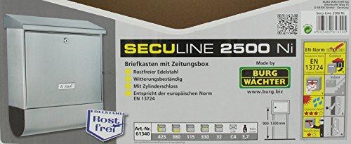 Burg-Wächter Seculine 2500 Briefkasten - 5