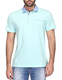 STOP To Start By Shoppers Stop Mens Polo Neck Solid T-shirt - B072KR762K