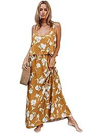 Vestido elegante de Boho del verano floral en rosa Maxi