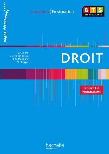 Droit, BTS 2e anne, Livre de l'lve, d. 2010