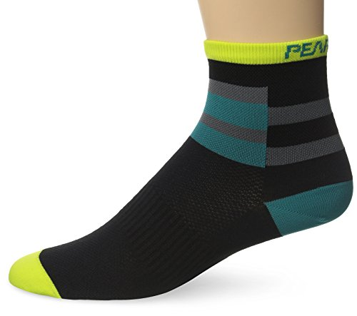 Pearl Izumi Elite Herren Socken, Herren, Band Stripe Green (Bar Stripe Socke)