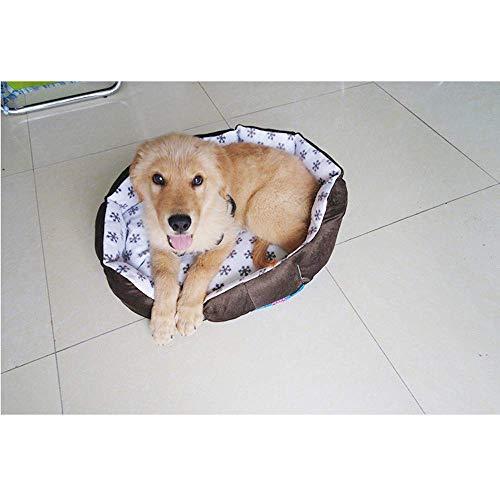 Giow Pet Supplies Hundetest für 4 Jahreszeiten, abnehmbar und waschbar, für kleine und mittelgroße Hunde, 50 x 50 x 18 cm, Kaffeebraun, Coffee, 40 * 40 * 15cm