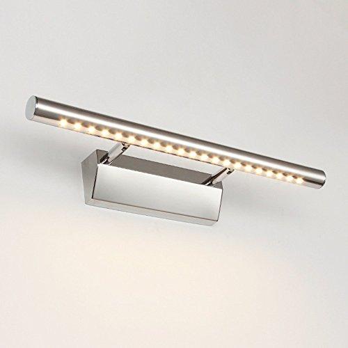 Lampe avant miroir LED imperméable à l'eau Lampe miroir simple contemporaine Lampe murale Lampe de salle de bain étanche en acier inoxydable pour salle de bains, 9W avec interrupteur 70CM lumière blanche