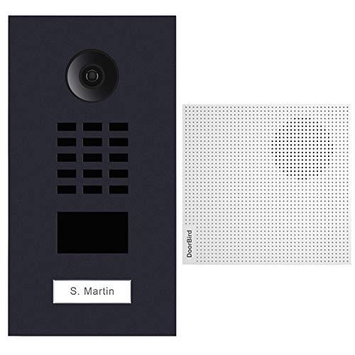Doorbird D2101V-RAL7016 + A1061W IP-Video-Türsprechanlage, RFID-Leser, Gong