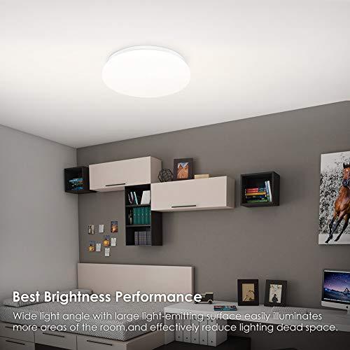 Lámpara de Techo,Luz de Techo LED,Downlight Plafon de Techo Colgantes Superficie,Pantallas de Lamparas,Luz Blanca Cálida, Teckin Plafón Luminoso de Baño Balcón Iluminación 4500K 18W IP44