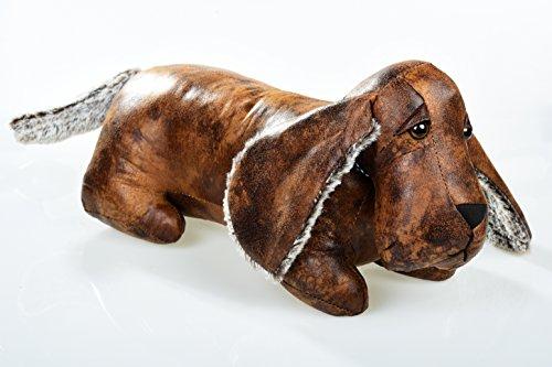 Butée de porte en cuir synthétique chien teckel