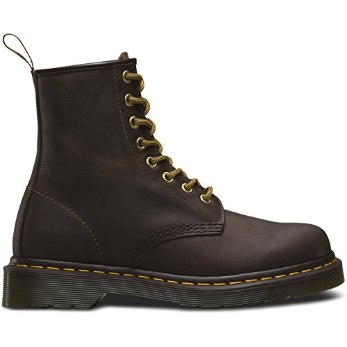 Dr Martens Mens Lace Up Non Safety Leather Boot 1460Z Brown (Martens Boot Safety)
