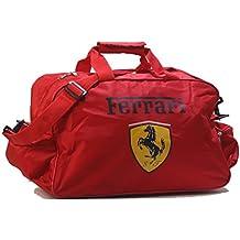 Desconocido Ferrari - Mochila de Hombro Unisex con Logo Rojo