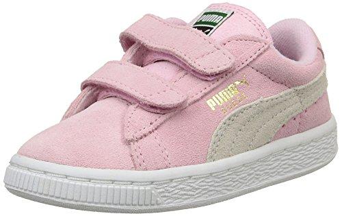 Puma Unisex-Kinder Suede 2 Straps Inf Sneaker, Pink, 22 EU
