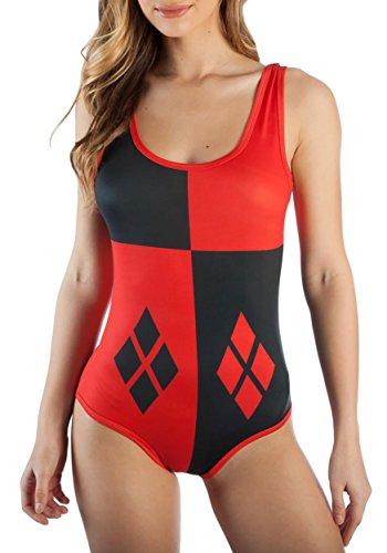 Bioworld Merchandising / Independent Sales Harley Quinn Diamonds Fancy Dress Costume Bodysuit Large (Kostüm Spandex Quinn Harley)