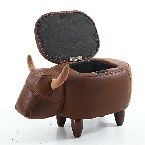 FSML-Fußhocker & Polsterhocker Massivholz Sofa Stuhl Kreative Mode Persönlichkeit Kinder Lagerung Ändern Schuh Hocker (Länge: 63 CM, Breite: 33 CM, Hohe 36 CM) (Farbe : C)