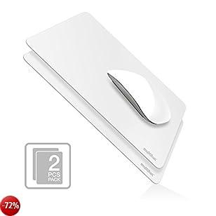 Mouse Pad Ufficio 2 Pezzi, multifun Tappetino per Mouse Antiscivolo, Mousepad Gaming, Ultra Sottile Solo 0.04cm